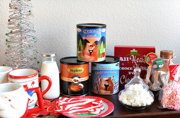 Santa's Breakfast Ideas - Hot Cocoa Bar